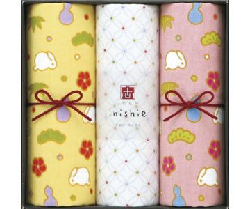 〈いにしへ〉うさぎの松竹梅タオルセット(ピンク)