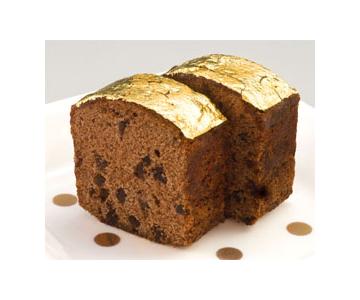 《金沢・箔座》チョコレートケーキ 黄金の焼菓子