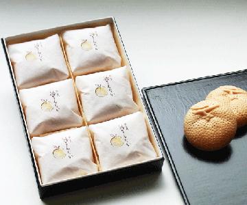 《輪島・柚餅子総本家 中浦屋》柚子最中6個入