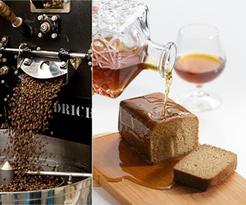 《金沢・キャラバンサライ》自家焙煎コーヒーのブランデーケーキ