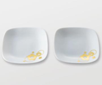 《金箔 箔一》梅moyou プレート皿(M)2枚組