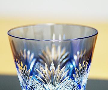 <江戸切子>冷酒杯<斜十字に矢来笹>