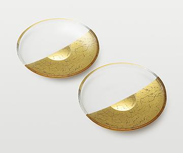 《金箔 箔一》貫入 取り皿2個組