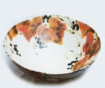古川隆久 色絵彩釉鉢