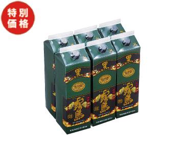 【特価】芋焼酎 黒霧島(1.8ℓ×6パック)