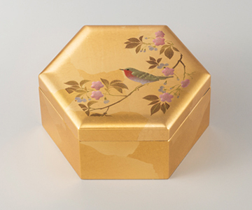 《金箔 箔一》花見鳥 箔小箱