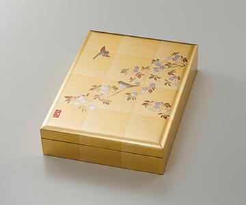 《金箔 箔一》花見鳥 手許箱(B5サイズ)