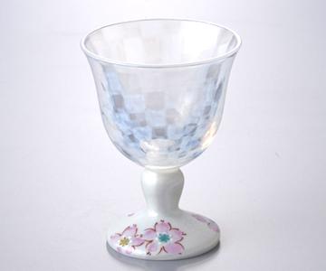 《九谷焼 九谷和グラス》冷酒グラス(さくら文シルバー)