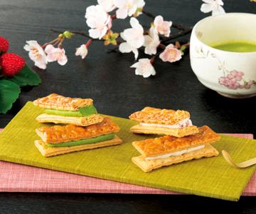 〈横濱フランセ〉季節をたのしむミルフィユ【さくら苺、抹茶の詰合せ】8個入