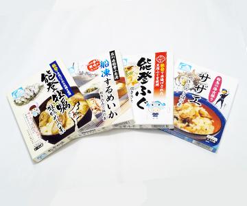 《石川県漁業協同組合》炊き込みご飯の素4種セット
