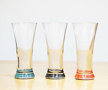 <越前蒔絵ガラス>ビール&ピルスナー(黒)