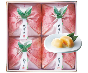 〈京都/菓匠 清閑院〉白桃ぜりぃ 桃清香