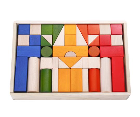 〈ボーネルンド〉オリジナル積み木 カラー【積み木のほん付】