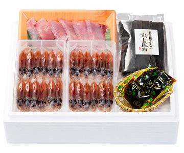 〈入善/あいば食品〉富山湾沖ほたるいか &天然寒ぶりしゃぶしゃぶセット