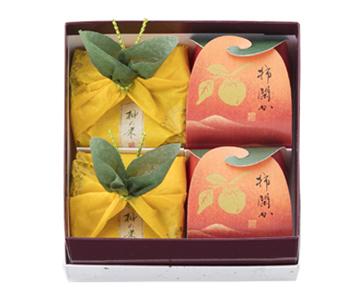 〈菓匠 清閑院〉柚の果・柿閑か詰合せ 4個入(柚の果2・柿閑か2)