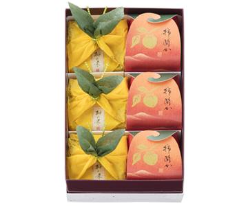 〈菓匠 清閑院〉柚の果・柿閑か詰合せ 6個入(柚の果3・柿閑か3)