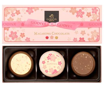 〈ゴディバ〉マカロンショコラ 桜 3個