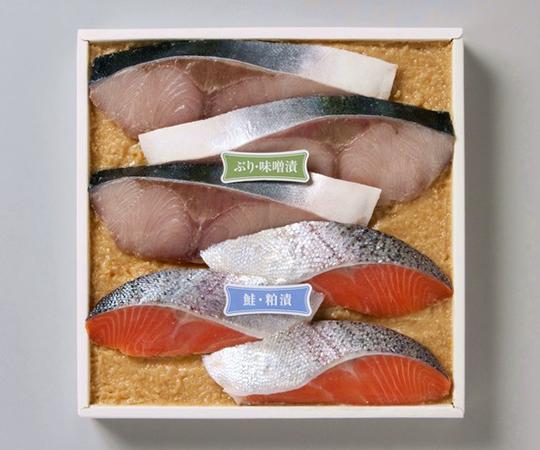 《金沢・十字屋》ぶりの味噌漬・鮭粕漬詰合せ