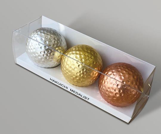 《金箔 箔一》ゴルフボール メダリストセット(金・銀・銅)